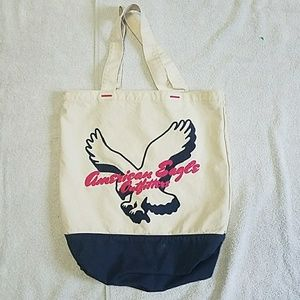 American Eagle Embroidered Tote Bag